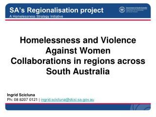 SA's Regionalisation project