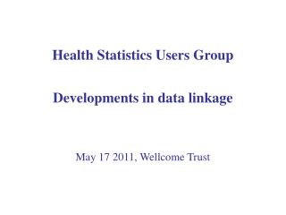 Health Statistics Users Group