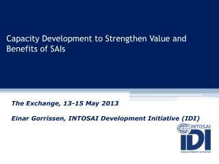 Capacity Development to Strengthen Value and Benefits of SAIs