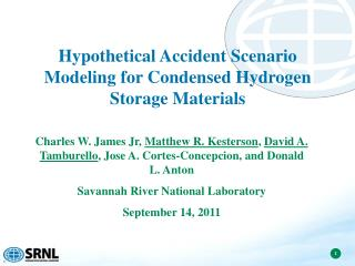 Hypothetical Accident Scenario Modeling for Condensed Hydrogen Storage Materials