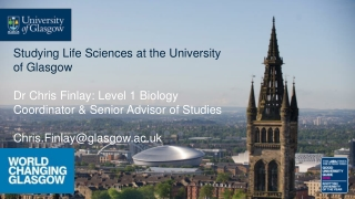 Studying Life Sciences at the University of Glasgow