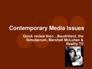 Contemporary Media Issues