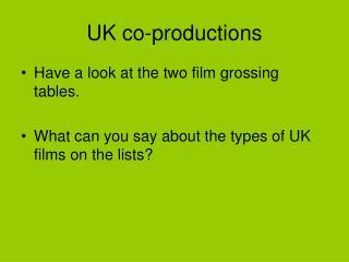 UK co-productions