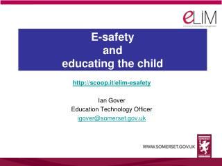 E-safety and educating the child