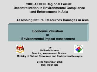 by Halimah Hassan Director,  Assessment Division