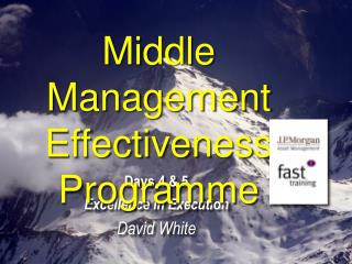 Middle Management  Effectiveness Programme