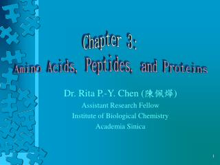 Chapter 3: Amino Acids, Peptides, and Proteins