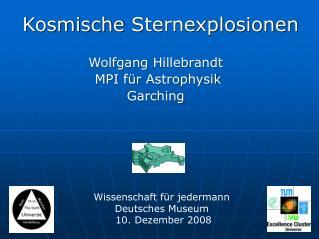 Kosmische Sternexplosionen