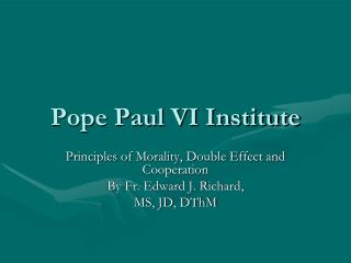Pope Paul VI Institute