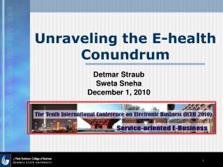 Unraveling the E-health Conundrum