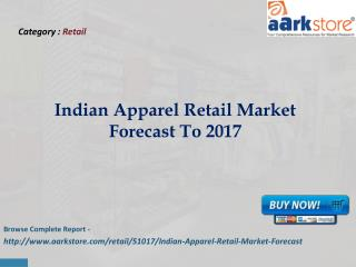 Aarkstore - Indian Apparel Retail Market Forecast To 2017