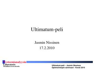 Ultimatum-peli