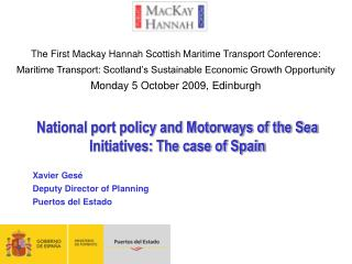National port policy and Motorways of the Sea Initiatives: The case of Spain