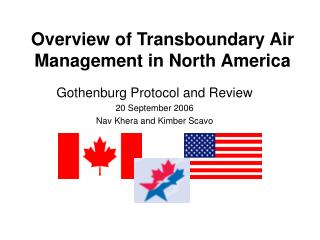 Overview of Transboundary Air Management in North America