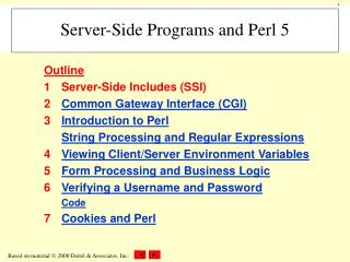 Server-Side Programs and Perl 5