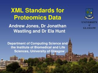 XML Standards for Proteomics Data