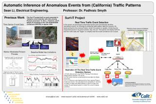Automatic Inference of Anomalous Events from (California) Traffic Patterns