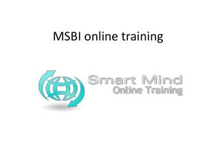 MSBI online training | Online MSBI Training in usa, uk, Cana