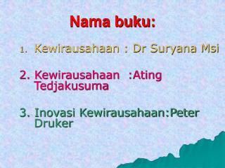 Nama buku: