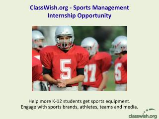 ClassWish - Sports Management Internship Opportunity
