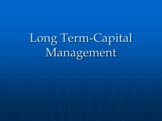 Long Term-Capital Management