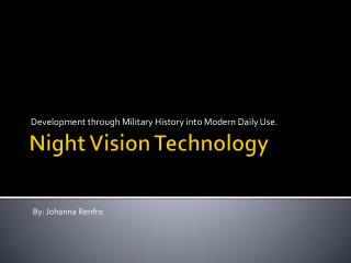 Night Vision Technology
