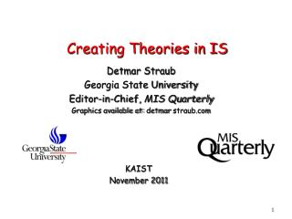 Creating Theories in IS