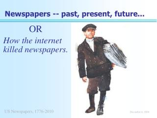 Newspapers -- past, present, future...