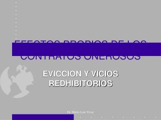 EFECTOS PROPIOS DE LOS CONTRATOS ONEROSOS