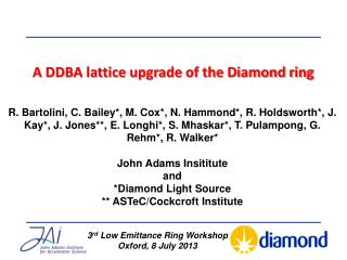 A DDBA lattice upgrade of the Diamond ring