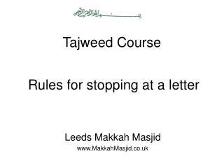 Tajweed Course