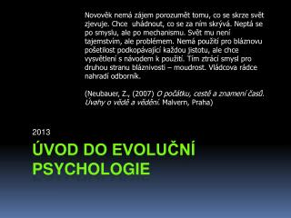Úvod do evoluční psychologie