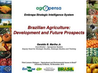 "Third Lemann Dialogue –  "" Agricultural and Environmental Issues in Brazil """