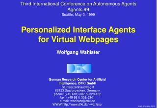 Personalized Interface Agents for Virtual Webpages