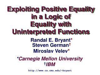 * Carnegie Mellon University † IBM