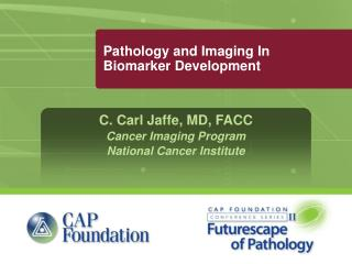 Pathology and Imaging In Biomarker Development