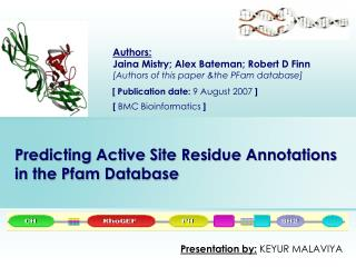 Predicting Active Site Residue Annotations in the Pfam Database