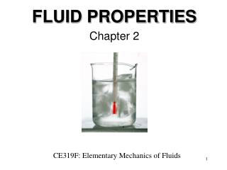 FLUID PROPERTIES Chapter 2