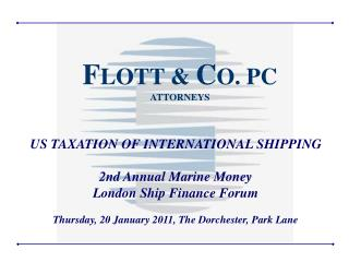 Overview US Taxation of Shipping Company Income  Compliance Challenges