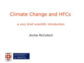 Climate Change and HFCs