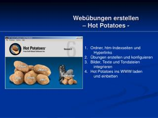Webübungen erstellen – Hot Potatoes -