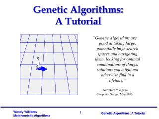 Genetic Algorithms: A Tutorial