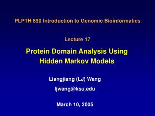 Protein Domain Analysis Using Hidden Markov Models