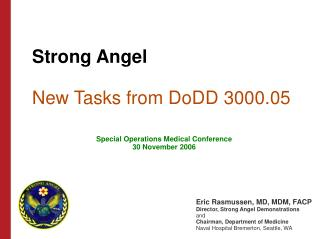 Strong Angel  New Tasks from DoDD 3000.05