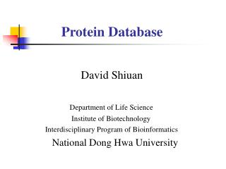 Protein Database