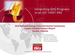 Integratin g GHG Programs in an ISO 14001 EMS