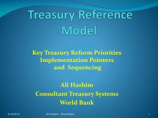 Treasury Reference Model