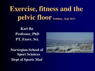 Exercise, fitness and the pelvic floor Kolding , Sept 2013