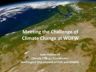 Lynn Helbrecht Climate Change Coordinator Washington Department of Fish and Wildlife