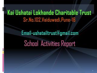 School  Activities Report